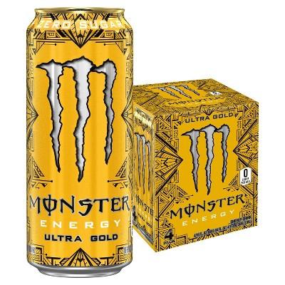 Monster Energy Ultra Gold - 4pk/16 fl oz Cans