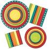 24ct Summer Stoneware Paper Plates Red - image 3 of 3