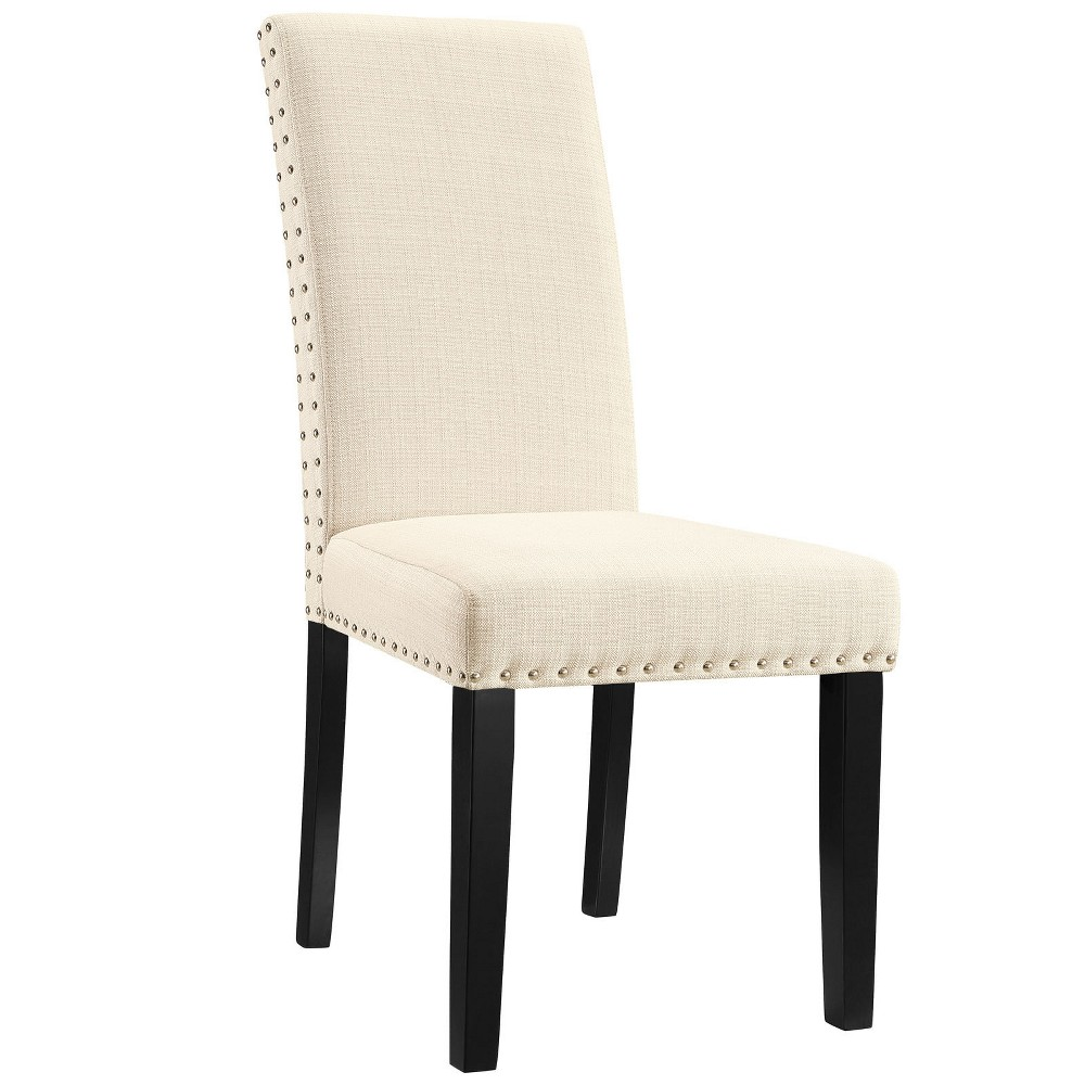 Parcel Dining Fabric Side Chair Beige - Modway