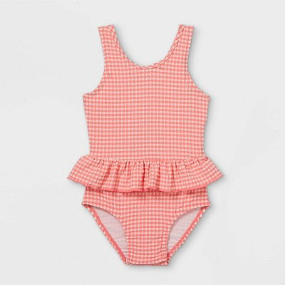 Toddler Girls' Seersucker One Piece Swimsuit - Cat & Jack™ Pink/White