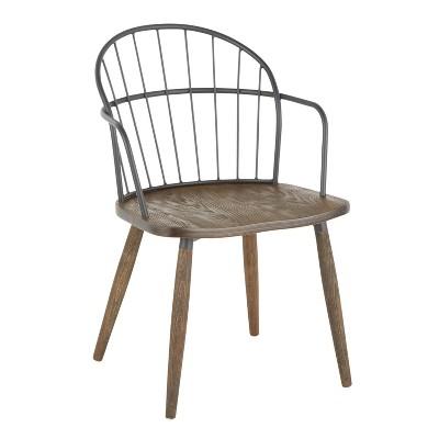 Riley Industrial Chair Dark Walnut/Black - LumiSource