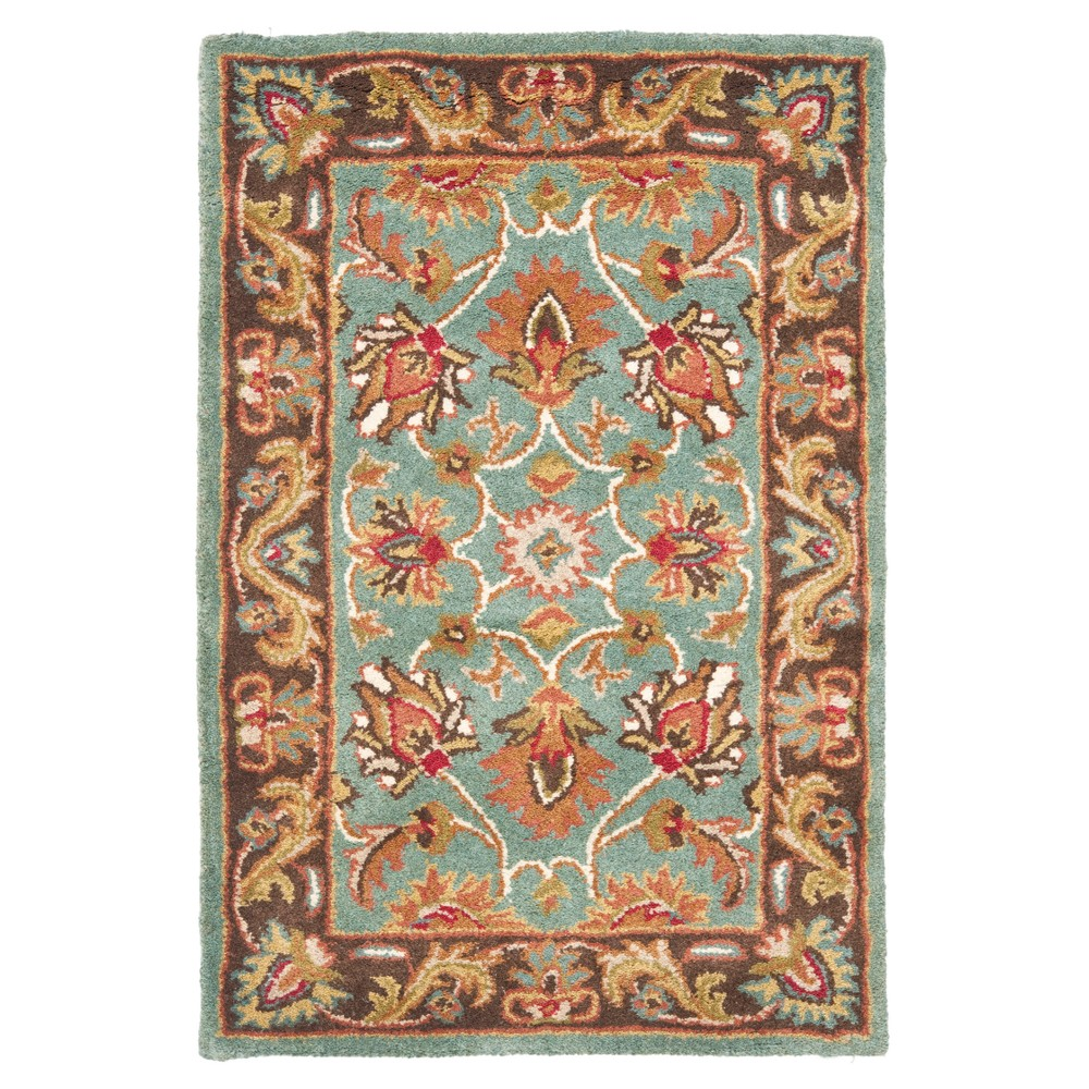 Blue/Brown Floral Tufted Accent Rug 2'X3' - Safavieh