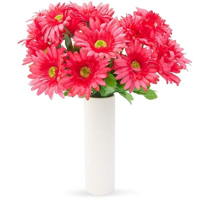 3 Bouquet Pink Sunflowers Artificial Fake Flowers for Floral Baby Shower Decorations