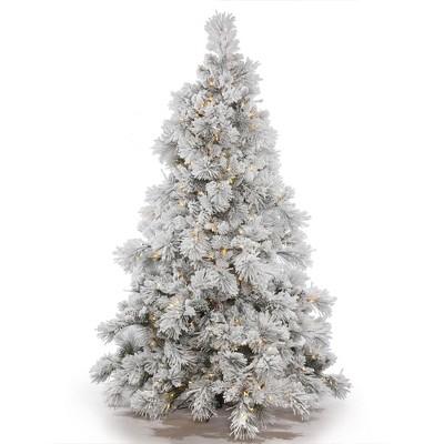 Vickerman Flocked Alberta Artificial Christmas Tree