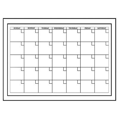 "Wall Pops!  2pk Dry Erase Calendar 17.5"" x 24"" - White/Black"