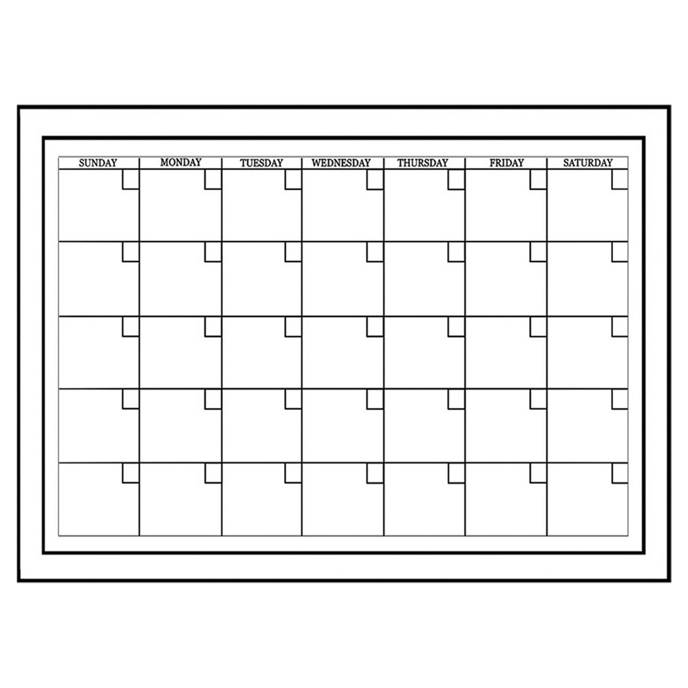 Wall Pops! Dry Erase Calendar 17.5 x 24 - White/Black