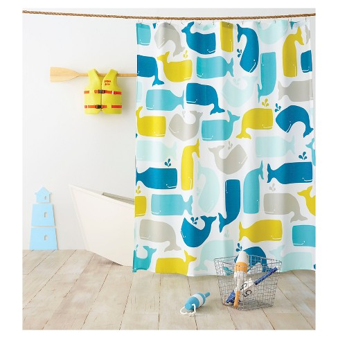 Whale Shower Curtain Amparo Blue - Pillowfort™ - image 1 of 2