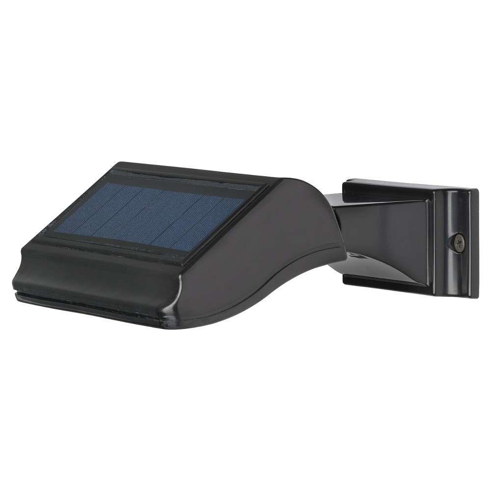 6.875 Illuminator Solar Address Lamp - Standard Wall - Whitehall Products, Black