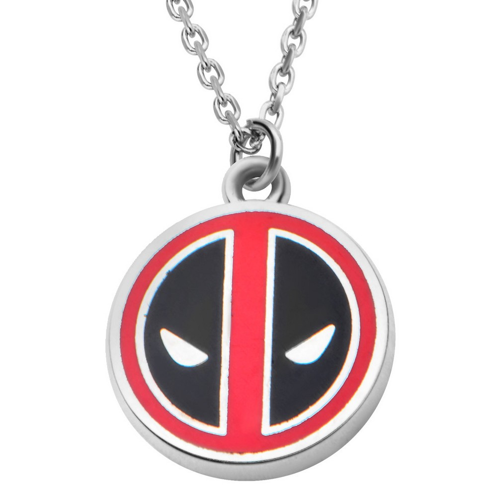 Women's Marvel Deadpool Stainless Steel Small Pendant with Chain (18