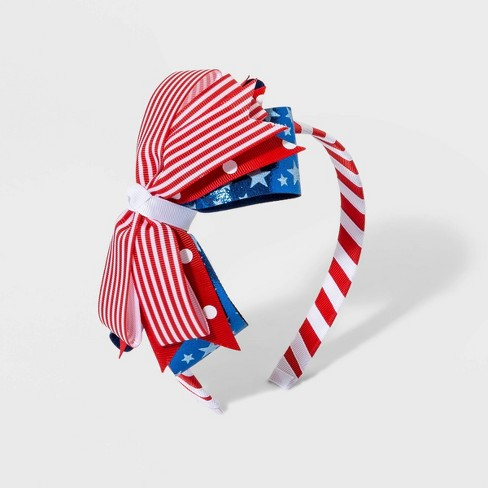 Girls' Stars And Stripes Layered Bow Headbands - Cat & Jack™ - image 1 of 1