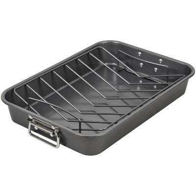 """Wilton 15""""x10"""" Non-Stick Ultra Bake Roasting Pan with Rack"""