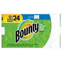 Deals on 2-Pk Bounty White Paper Towels 12 Double Rolls + Free $10 GC