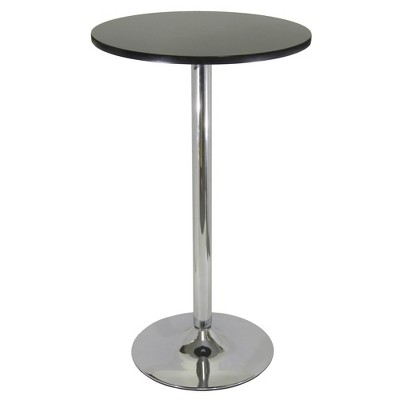 "24"" Spectrum Round Bar Height Table with Metal Legs Black - Winsome"