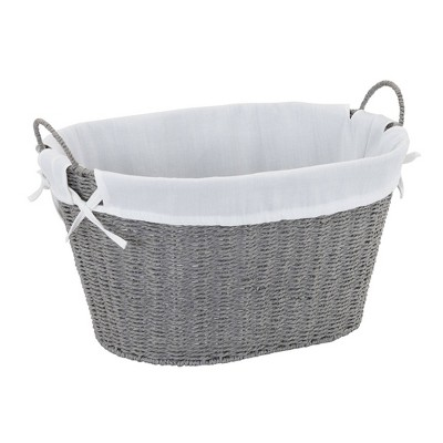 Household Essentials Paper Rope Laundry Basket Gray