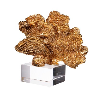 Golden Coral Accent on Clear Base (8 )- AB Home Inc.