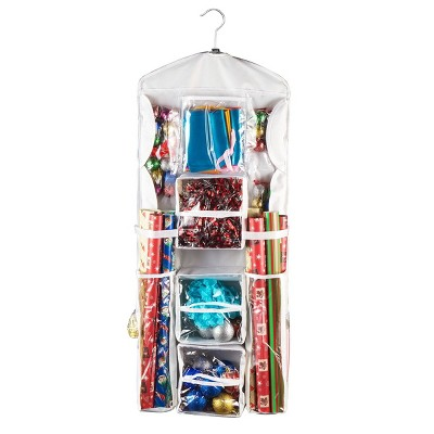 Elf Stor Double Sided Hanging Gift Wrap and Bag Organizer Stores it All