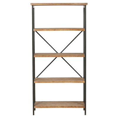 "Perth 68.5"" 5-Shelf Industrial Bookcase Antique - Christopher Knight Home"