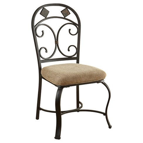 Kiele Side Dining Chair (Set of 2) - Oak and Antique Black - Acme - Kiele Side Dining Chair (Set Of 2) - Oak And Antique Black - Acme