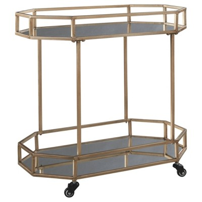 Daymont Bar Cart Gold Finish - Signature Design by Ashley