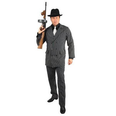 Charades Gangster Black and White Adult Plus Costume