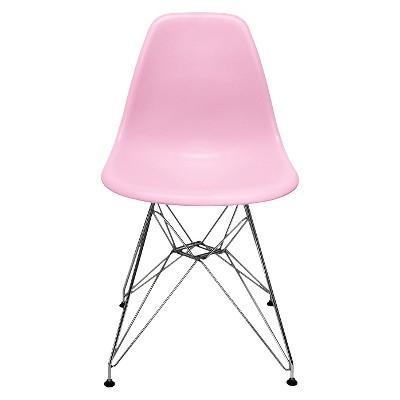 Set of 2 AEON Paris Molded Plastic Chair - Pink