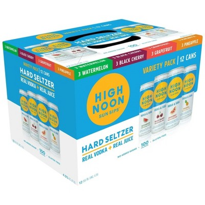 High Noon Vodka Hard Seltzer Mixed Pack - 12pk/355ml Cans