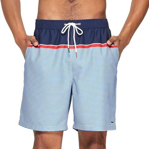 f0b1342199adf Men's Striped Swim Trunks - Navy/Red M - Vineyard Vines® For Target ...