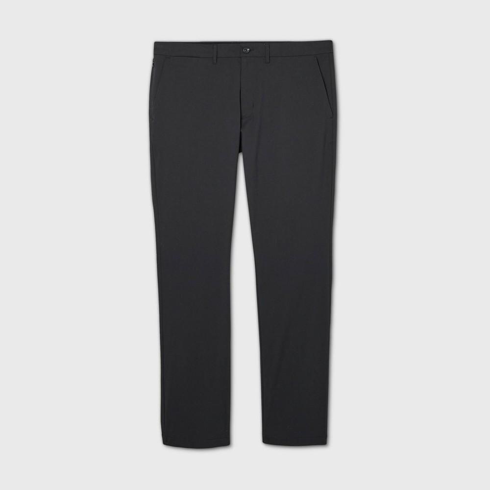 Men 39 S Big 38 Tall Slim Straight Fit Hennepin Tech Chino Pants Goodfellow 38 Co 8482 Black 48x36