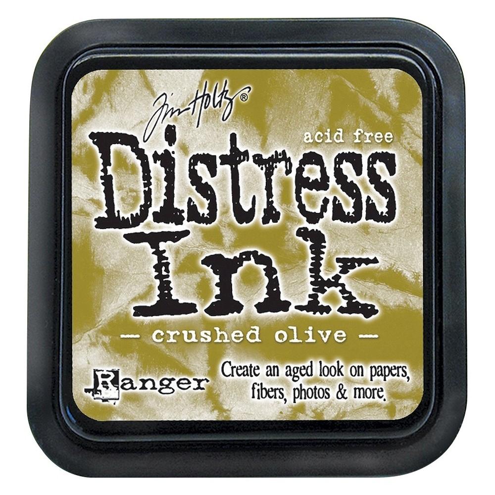 Tim Holtz Distress Ink Pad-Crushed Olive 2.25x2.25, Crushed Olive