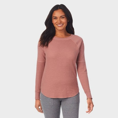 Warm Essentials by Cuddl Duds Women's Waffle Thermal Scoop Neck Top