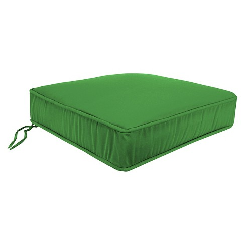 Jordan Boxed Edge Seat Cushion - Emerald Green - image 1 of 1