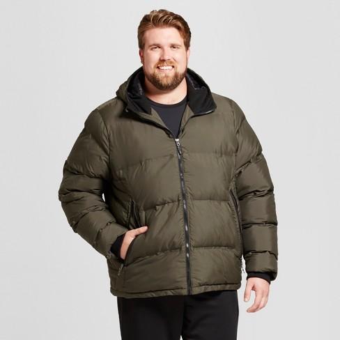 Men's Big & Tall Puffer Jacket - C9 Champion® Olive XXXL - image 1 of 2