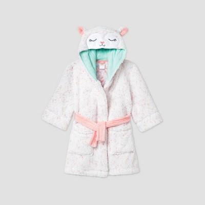 Toddler Girls' Llamacorn Robe - Cat & Jack™ Cream 4T-5T