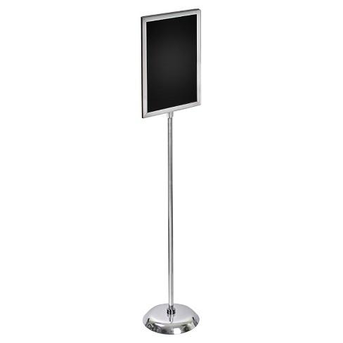 Azar 11 X 17 Two Sided Slide In Frame Sign Holder With Metal Pedestal Stand Target