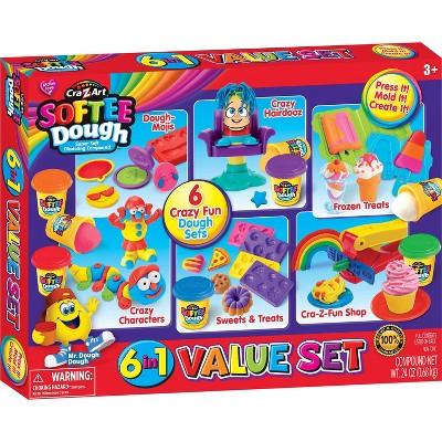 Cra-Z-Art Softee Dough 6-in-1 Dough Value Set