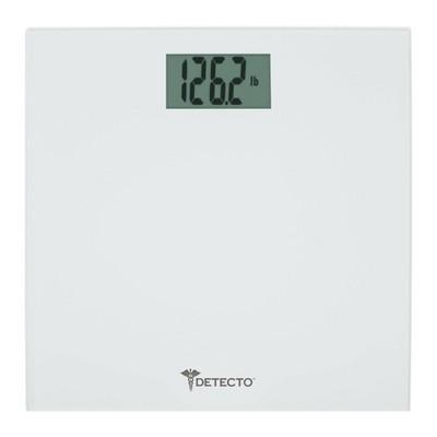 Glass Precision Bathroom Scale White - Detecto