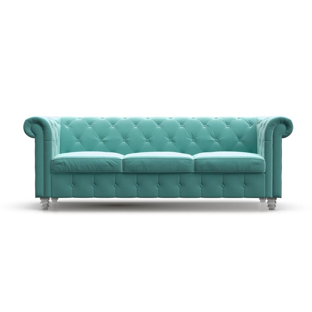 Louise Tufted Velvet Sofa Seafoam - AF Lifestlye