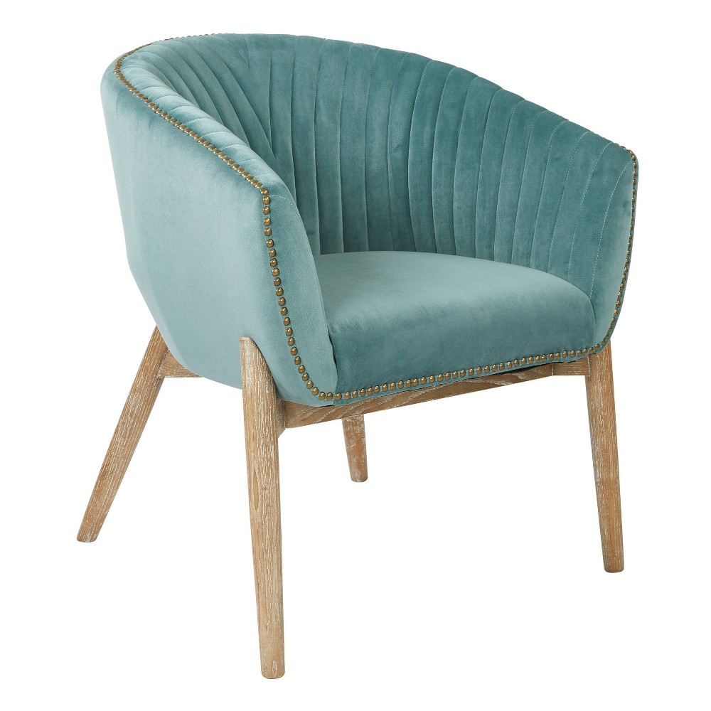 Girona Accent Chair Teal (Blue) - Osp Home Furnishings