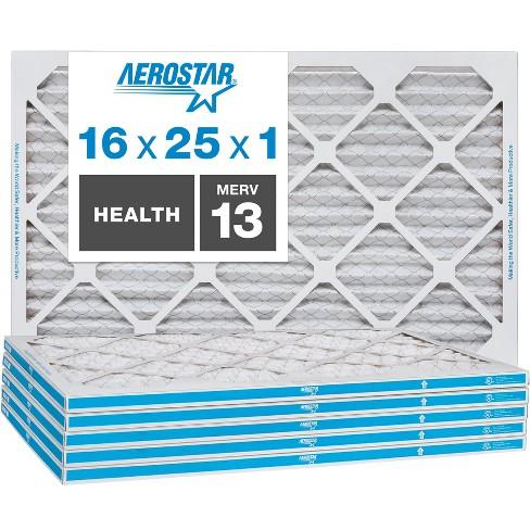 Aerostar AC Furnace Air Filter - Health - MERV 13 - Box of 6 - image 1 of 4