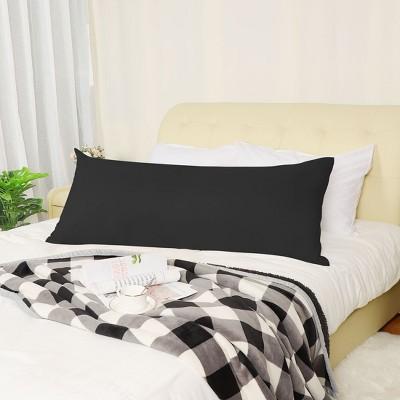 Zippered Body Pillow Case Cover Soft Microfiber Long Pillowcases - PiccoCasa
