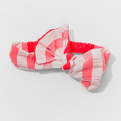 Toddler Girls' Striped Bow Headwrap - Cat & Jack™ Pink