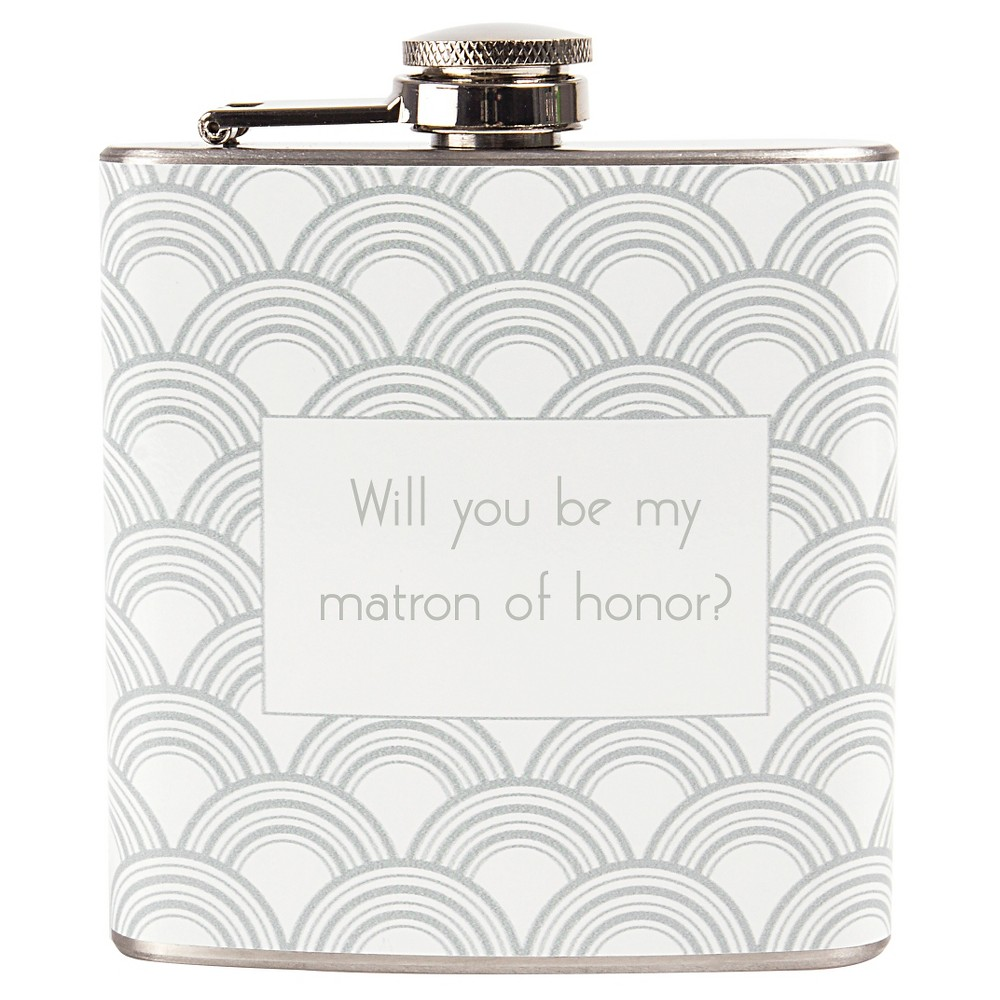Matron of Honor Flask Silver XL