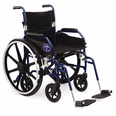 Medline Combination Wheelchair Transport Chair - Blue