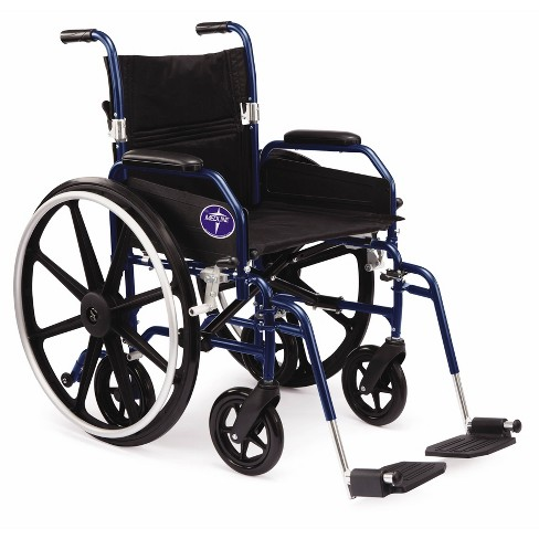 Medline Combination Wheelchair Transport Chair - Blue - image 1 of 4