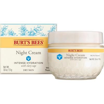 Facial Moisturizer: Burt's Bees Intense Hydration Night Cream