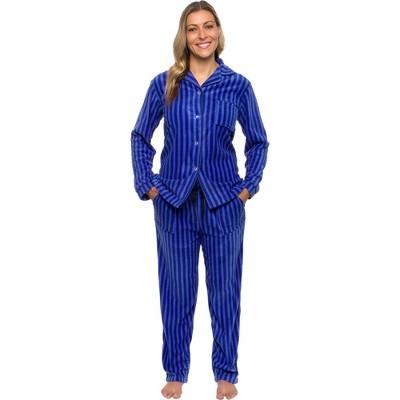 Silver Lilly - Women's Fleece Striped Pajama Set