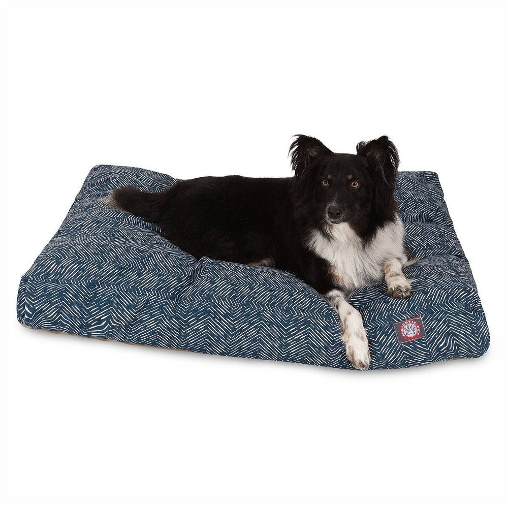Majestic Pet South West Rectangle Dog Bed Navy Blue S