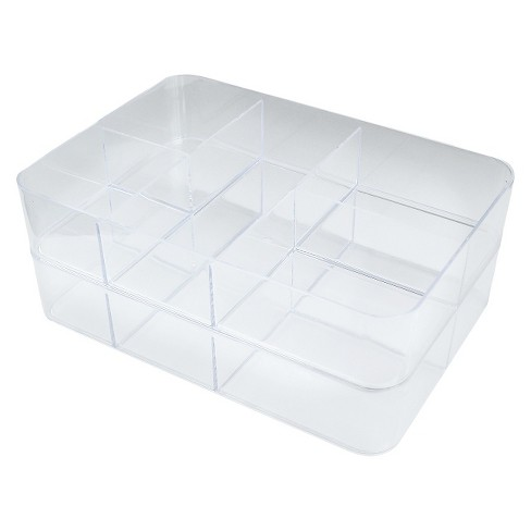 5 Compartment Stacking In Drawer Storage Tray Clear - Merrick - image 1 of 1