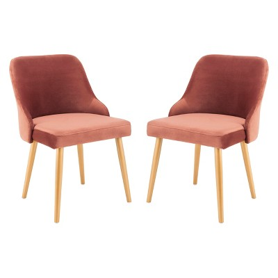 Set of 2 Lulu Upholstered Dining Chair - Safavieh