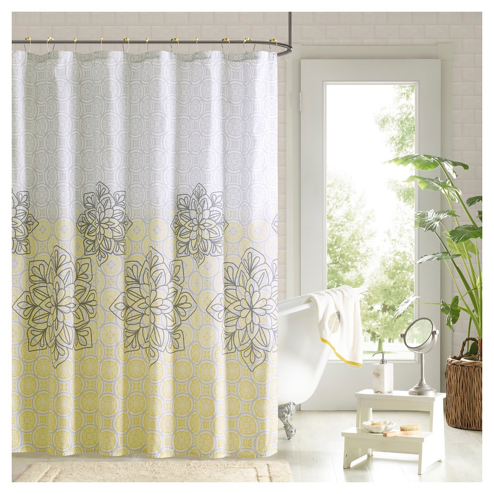 Shower Curtain And Hook Set - Yellow - (72X72)
